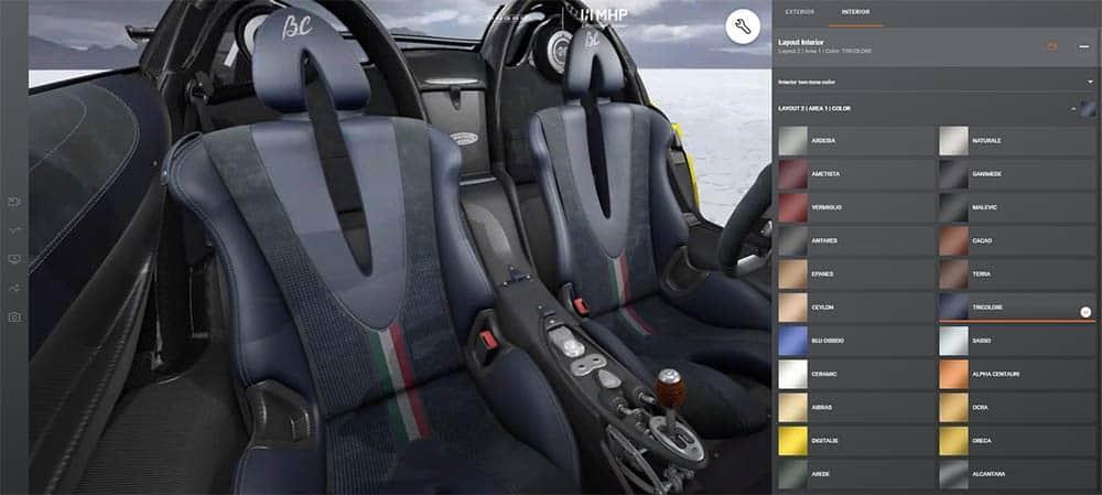 Für das Interieur stehen beim Konfigurator über 20 Farben zur Auswahl