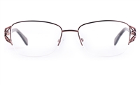 Poesia Stainless steel/PC Womens Semi-rimless Optical Glasses