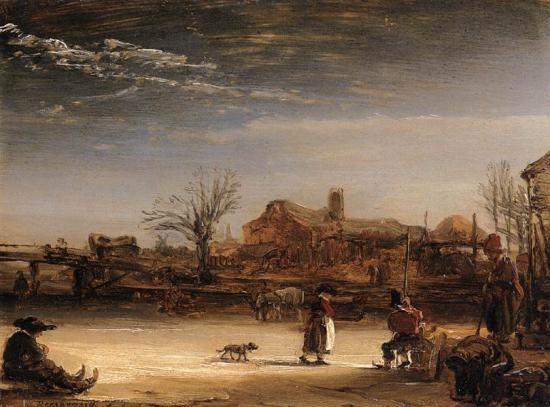Paesaggio invernale di Rembrandt podcast di storia dellarte