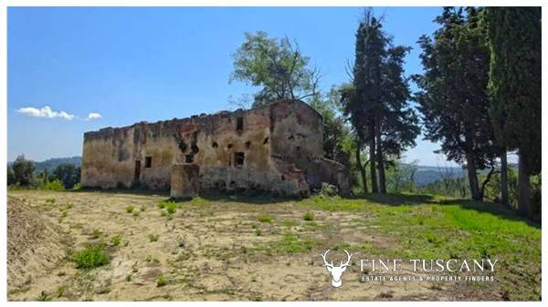 2 Farmhouses for sale in Montefoscoli Palaia Tuscany