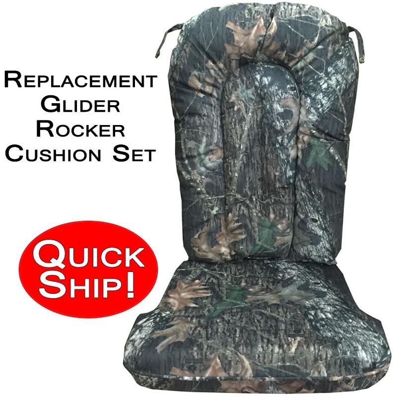 Quick Ship Glider Rocker Cushion Set Mossy Oak New
