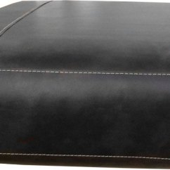 Replacement Papasan Chair Cushion Amazon Uk Recliner Covers Rectangular Sofa Cover Bonded Leather In Black With White Detail Stitching Medium Size