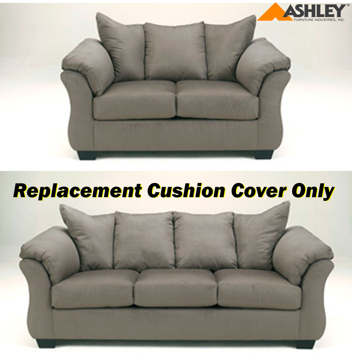 how to replace sofa cushion covers top grain leather reclining ashley darcy replacement cover only 7500538 or