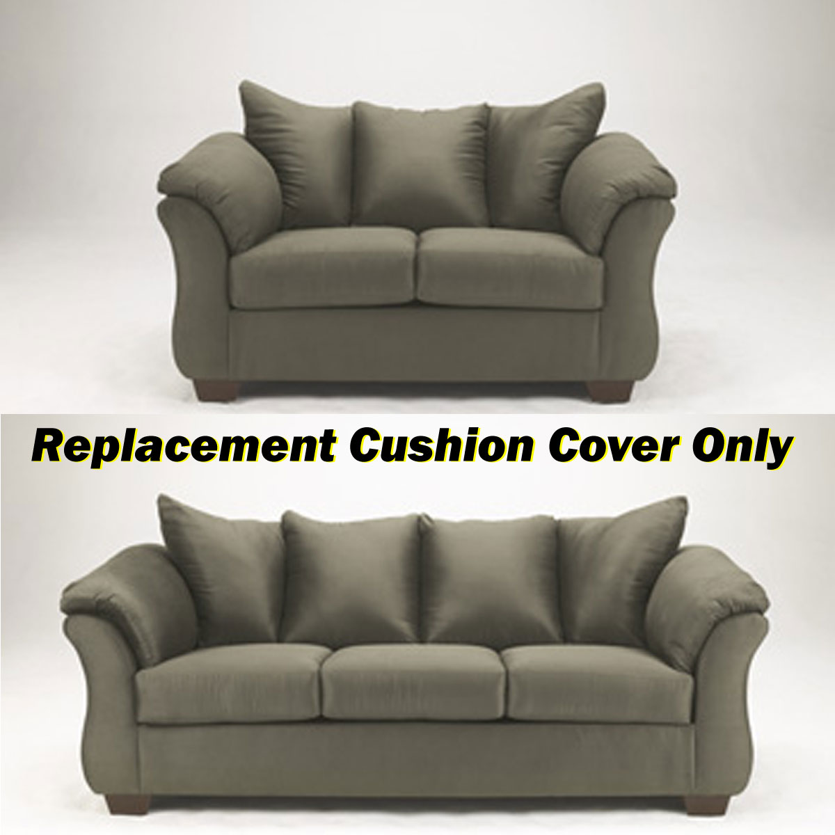 microfiber sofa cushion cover replacement. Black Bedroom Furniture Sets. Home Design Ideas