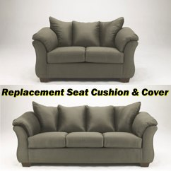 Sage Sofa Slipcovers 3 Piece Microfiber Sectional With Chaise Ashley Darcy Replacement Cushion And Cover 7500338 Or