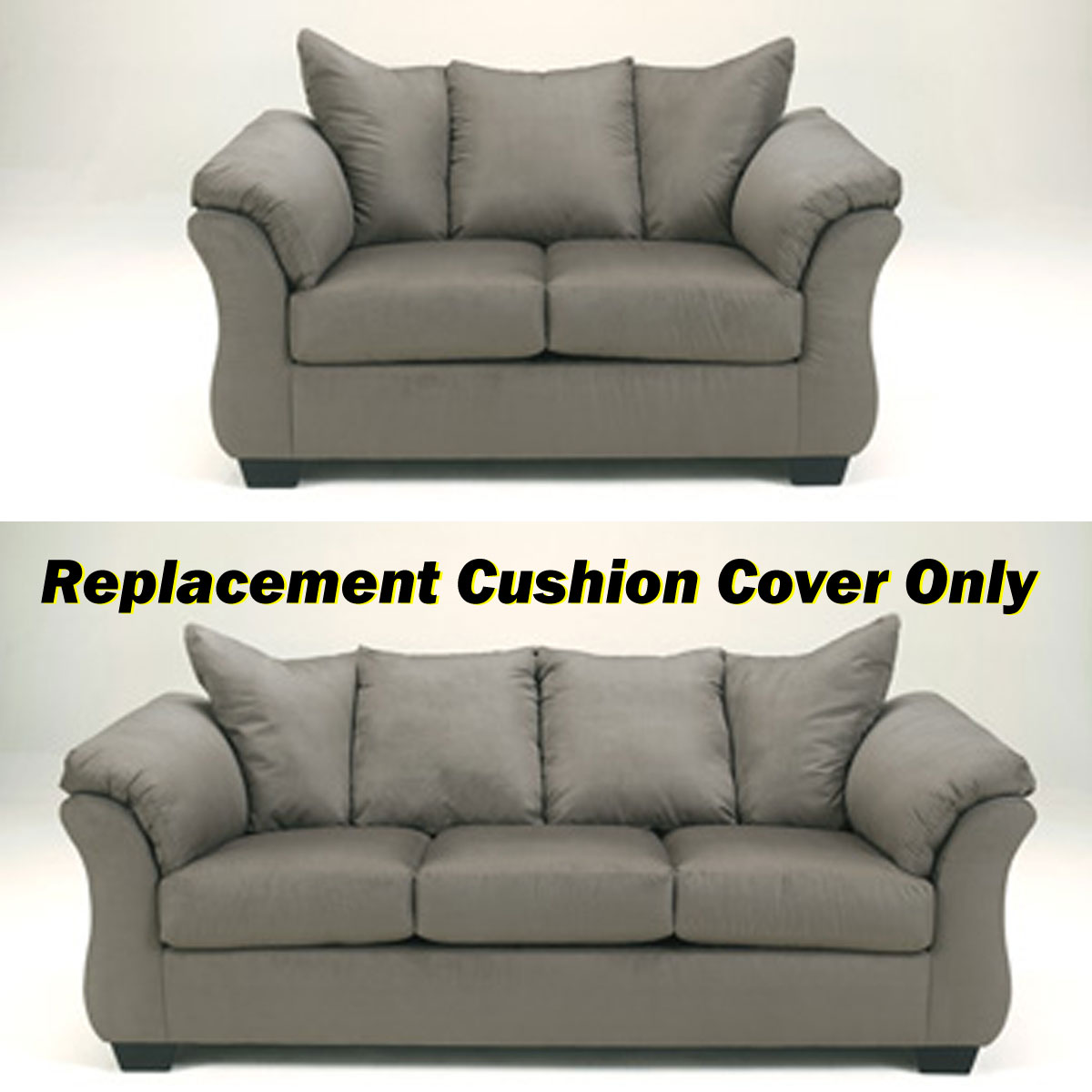 sofa cushion replacement service grey fabric for sofas ashley darcy cover only 7500538 or