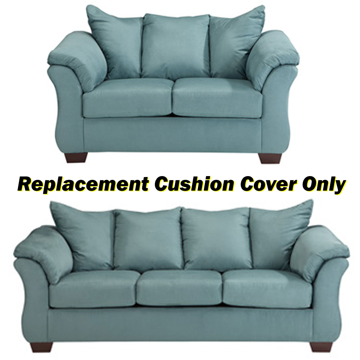 how to replace sofa cushion covers white leather wall color ashley darcy replacement cover only 7500638 or