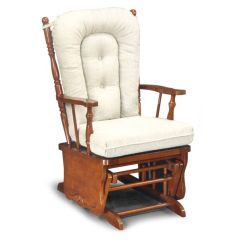 Glider Rocker Chair Cushions Upholstered With Nailhead Trim Knox Swivel