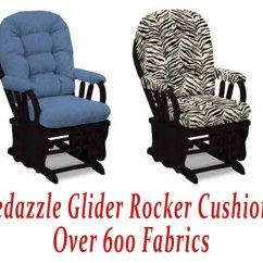 Glider Rocker Chair Cushions Big Comfortable Chairs For Bedazzle