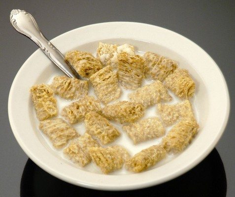 Fake Food Bowl Of Wheat Squares Cereal