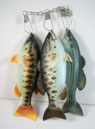 Fake Food String of Speckled Bass Fish