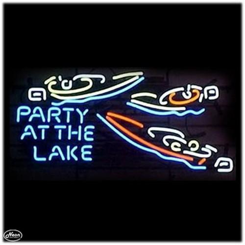 Party at the Lake Neon Bar Sign