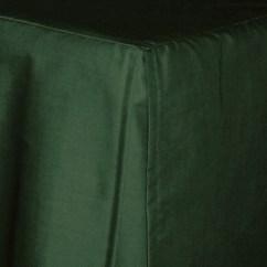 Best Chairs Glider Floor Mats For Office On Carpet 3/4 Three Quarter Dark Forest Green Tailored Dustruffle Bedskirt