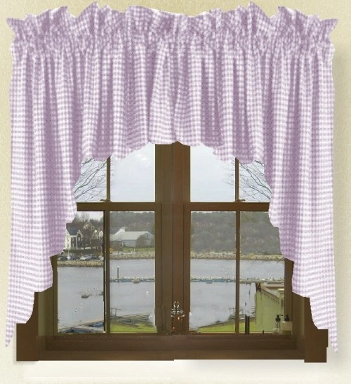 best glider chairs damask dining room chair covers light purple gingham check scalloped window swag valance set