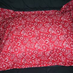 Cushions For Glider Chairs Your Chair Covers Inc. Sun Valley Ca 91352 Red Bandana Bedding Full Size Pillow Sham With Flange
