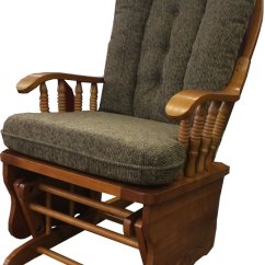 Chair And A Half Glider Recliner Brown Leather Dining Room Chairs Fast Ship Rocker With Maple Colored Cushions