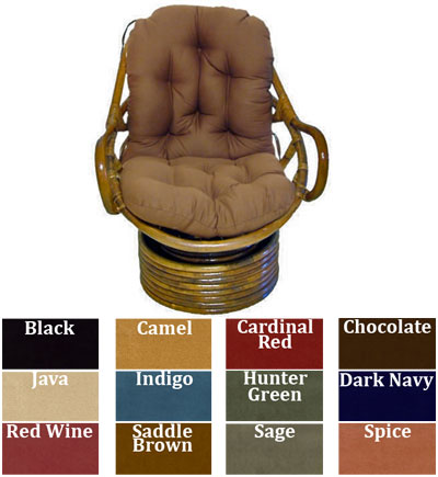 swivel chair cushions wing cover papasan rocker cushion micro suede