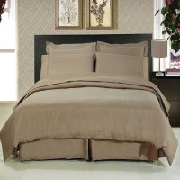 Solid Taupe 8 Piece Soft Microfiber Bedding Set