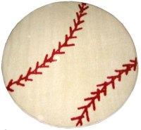 "Baseball Rug 39"" Round"