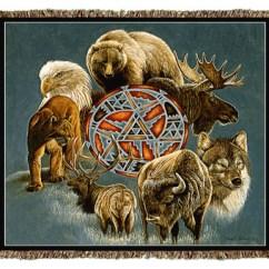 Rocker Glider Chairs Fake Eames Chair Native American Animal Spirit Circle Tapestry