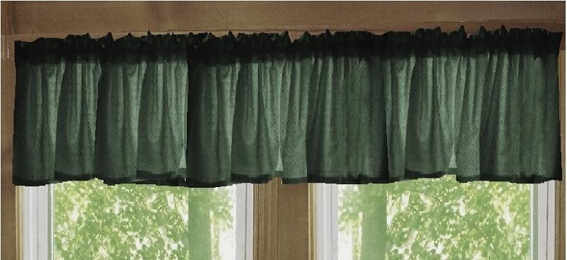Dark Forest Green Window Valance