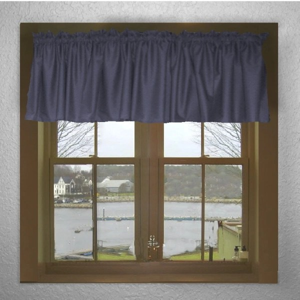 Navy Blue Window Valances