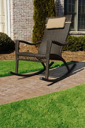Wicker Outdoor Rocking Chair