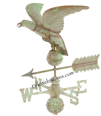 Eagle Weather Vane Antique Copper and Brass