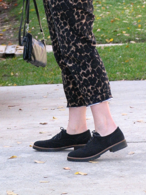 Leopard Pants And A Little Black Jacket: Up Down All-Around & Link