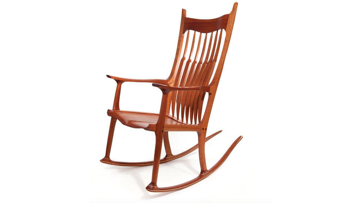 rocking chair fine woodworking custom upholstered dining chairs mahogany maple and walnut finewoodworking for jussaume the goal of this project was less about than it family i wanted to spend time with my father while he