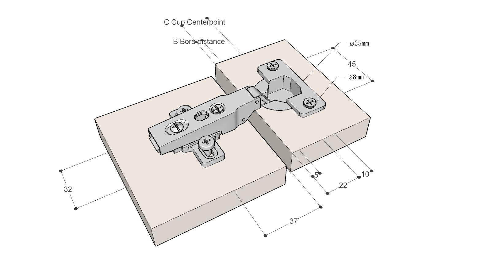西德鉸鍊安裝一問~ - 木工DIY - 居家討論區 - Mobile01