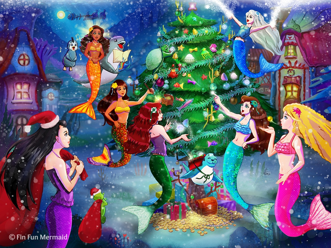 Christmas With The Mermaidens FinFriends