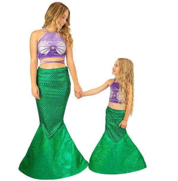 Mermaid Halloween Costume Kids And Adults Fin Fun