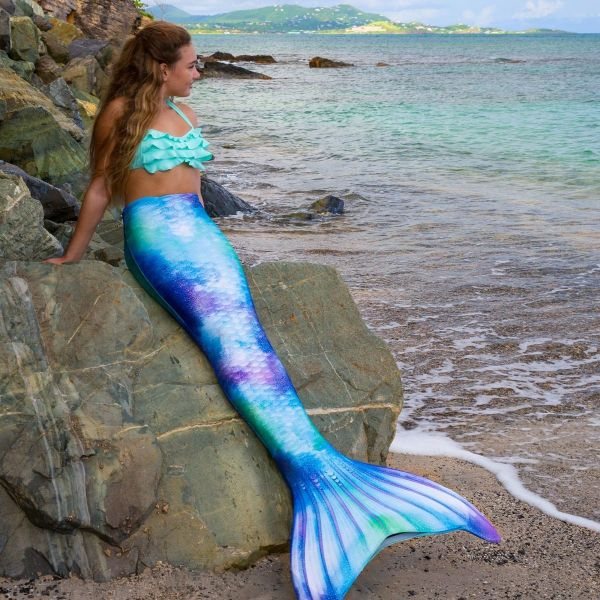 Swimmable Mermaid Tails Kids And Adults Watercolor Waves