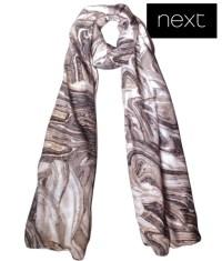 Next Grey foil print ladies scarf-wrap - finga-nails
