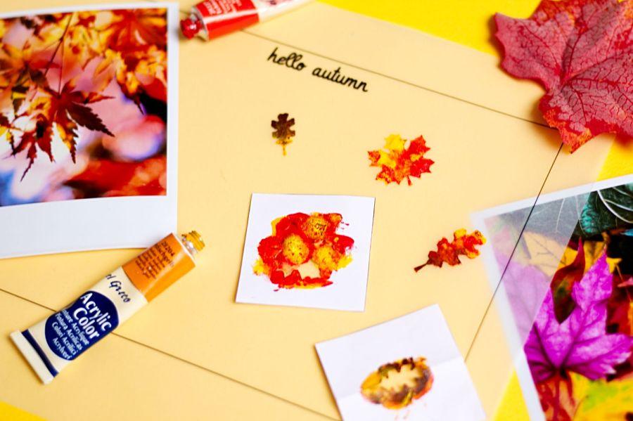 Herbstliche Kerze Hello Autumn