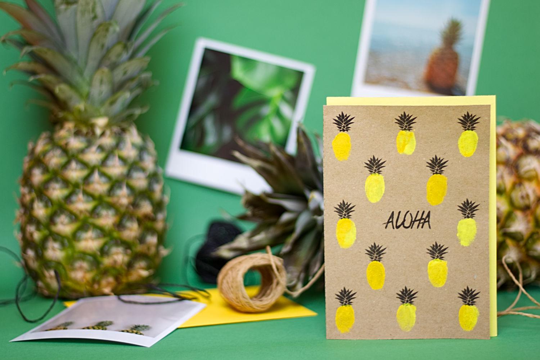 diy tropische ananas karte  karten selber machen vorlagen