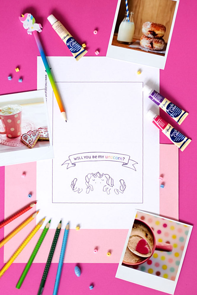 Valentinstag Karte Will you be my unicorn?