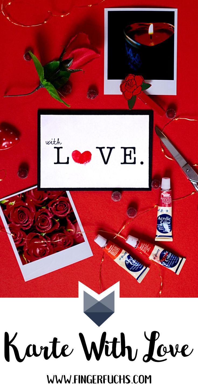 Bastelvorlagen für Karten Grusskarte with Love Pinterest
