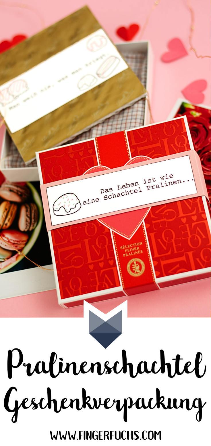 Pralinenschachtel als Geschenkverpackung für Valentinstag
