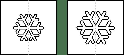 Schneeflocke Schablone Kalender 2018 zum Fingerstempeln