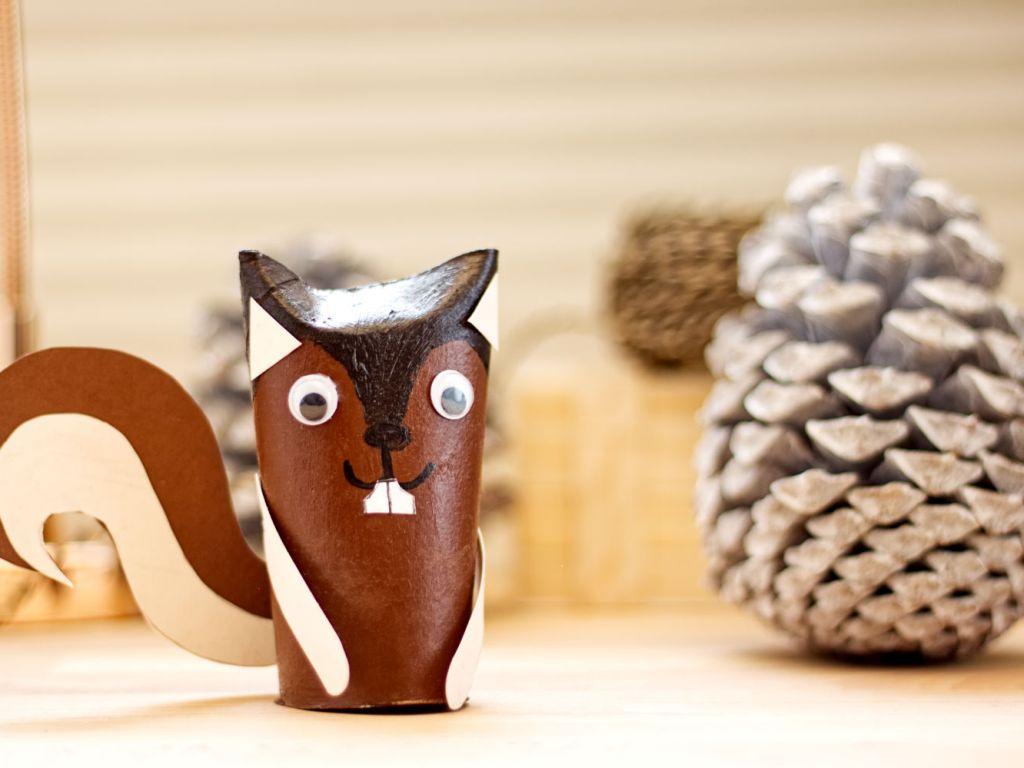 Eichhörnchen basteln Header