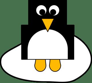 Pinguin Bastelvorlage - Winter Bastelideen für Kinder