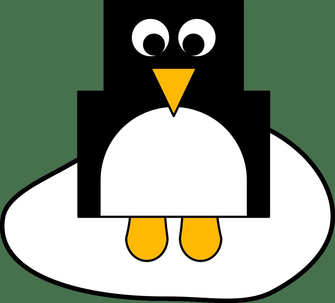 Winter Bastelideen Pinguin Vorlage Fingerfuchs