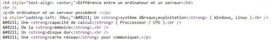 Code HTML