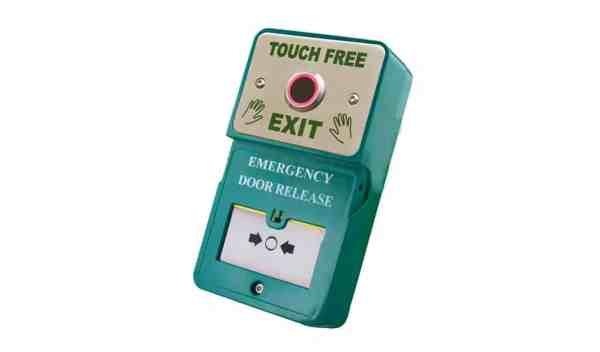 Dual Unit Touch Free Exit Emergency Door Release Borer Fingerprint Access Control