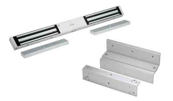 Electro Magnetic Lock Double Z&L Brackets Borer Fingerprint Access Control