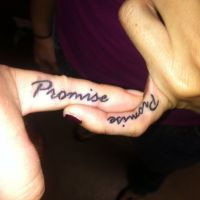 54 Beautiful Promise Finger Tattoos