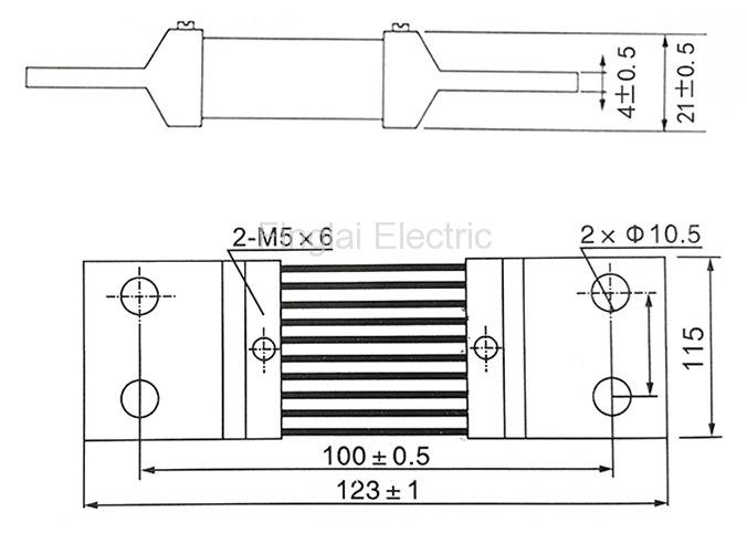 FL-2 DC current shunt resistor for ammeter