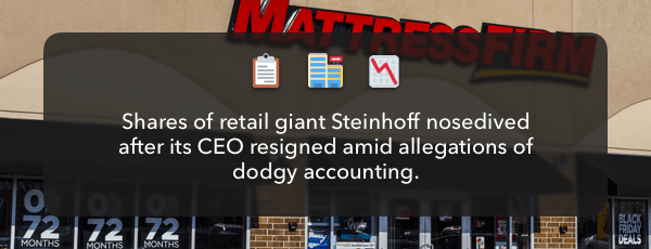 Cooked Books Leave A Bad Smell At Steinhoff Finimize